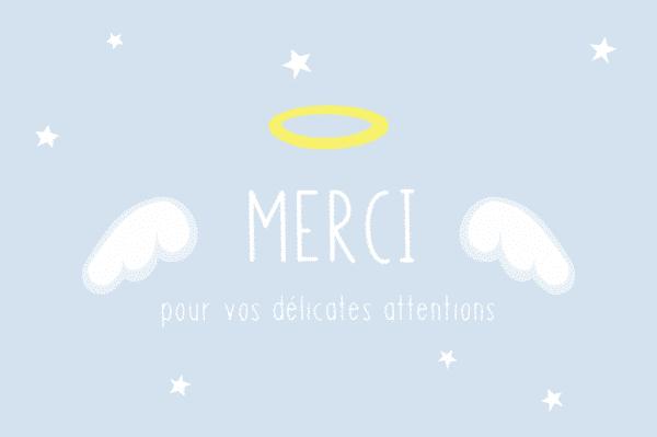 carte de remerciement ange, carte de remerciements ange, carte merci originale, carte de remerciement originale