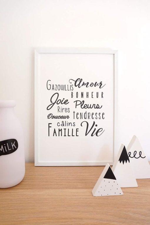 affiche moderne, affiche noir et blanc, affiche bébé, affiche enfant, affiche chambre bébé, affiche chambre enfant, affiche originale, affiche personnalisable