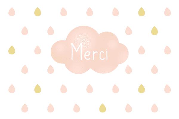 carte de remerciement nuage, carte de remerciements nuage, carte merci originale, carte de remerciement originale, carte personnalisable