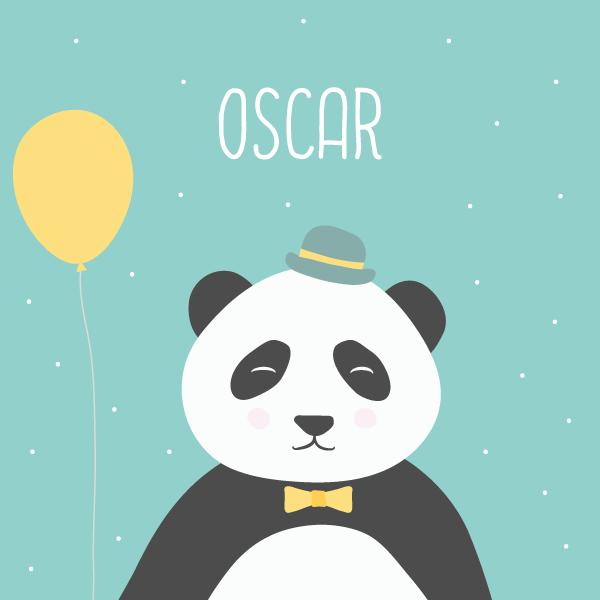 faire-part panda, faire-part naissance panda, faire-part naissance original, faire-part naissance personnalisable