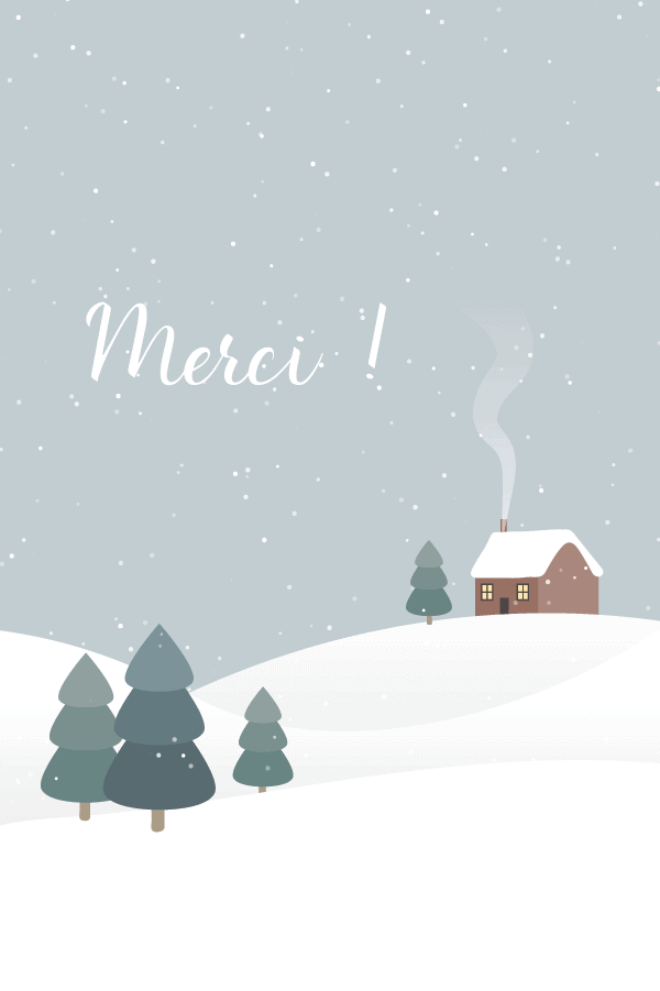 carte de remerciement hiver