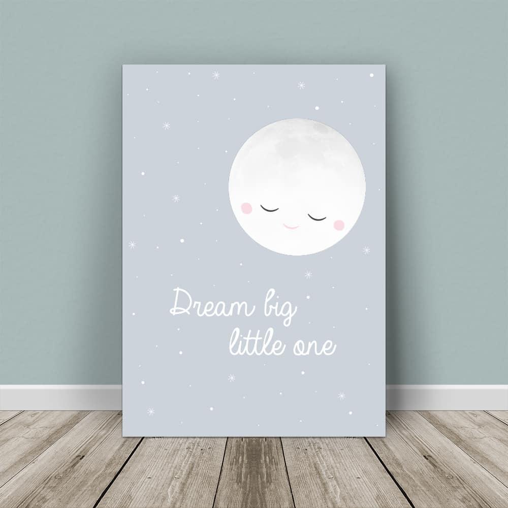 affiche lune, affiche nuit, affiche bébé, affiche enfant, affiche chambre bébé, affiche chambre enfant, affiche originale, affiche personnalisable