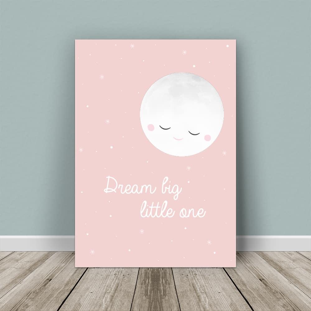 affiche lune rose à personnaliser