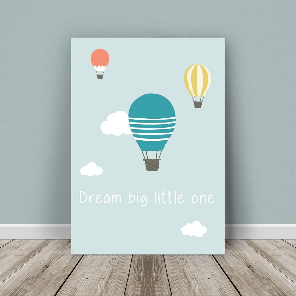 affiche montgolfière avec texte personnalisé