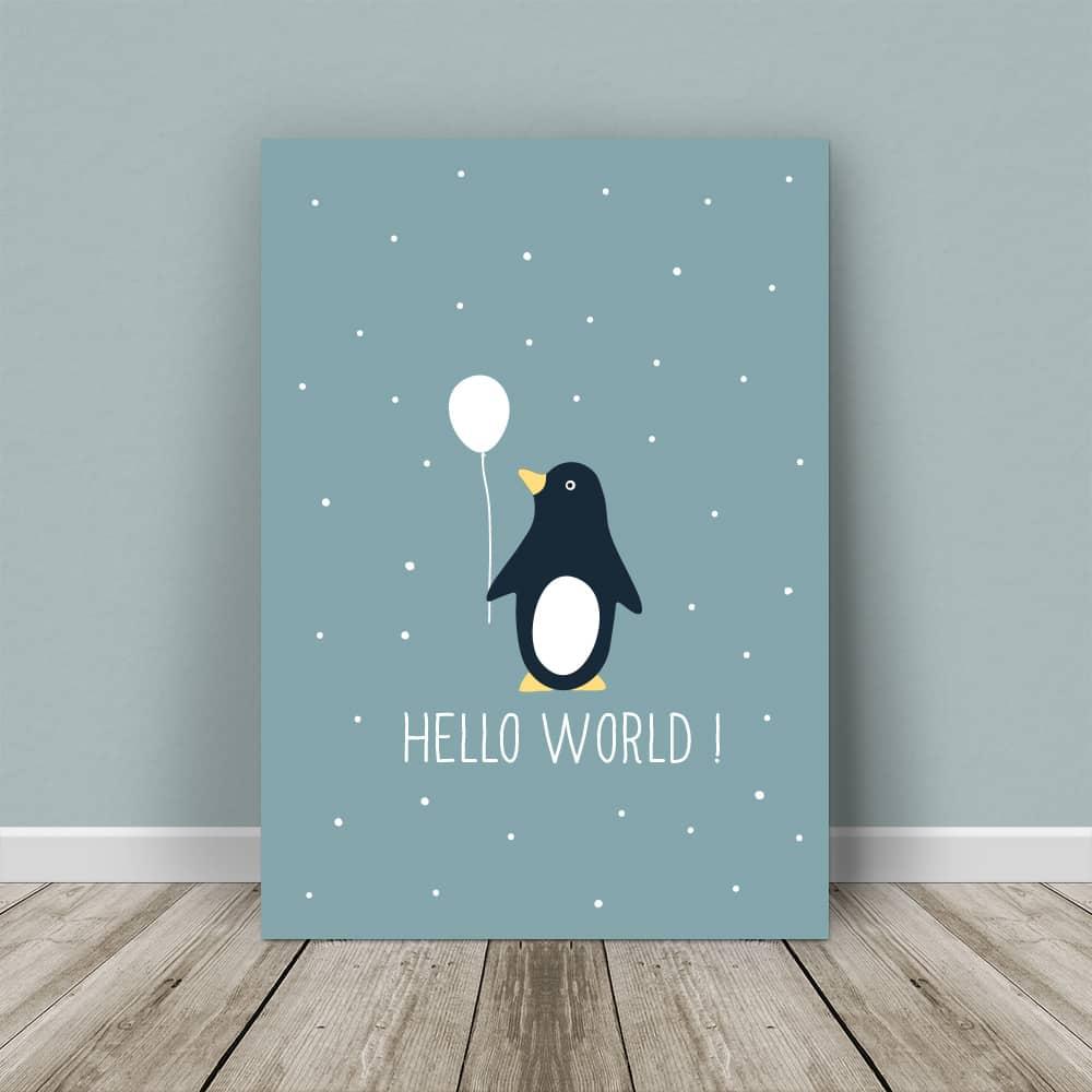 affiche à personnaliser pingouin