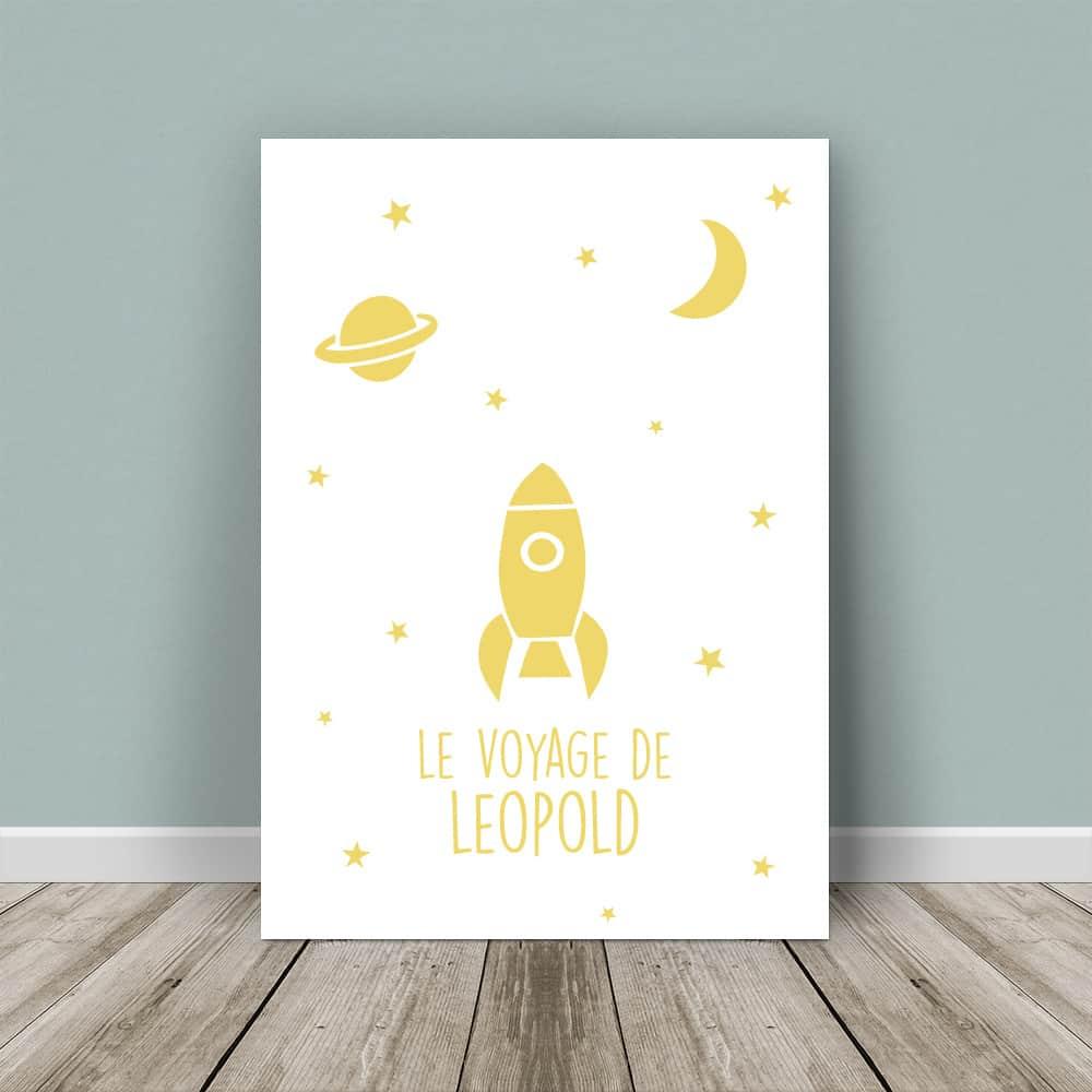 affiche fusée, affiche bébé, affiche enfant, affiche chambre bébé, affiche chambre enfant, affiche originale, affiche personnalisable