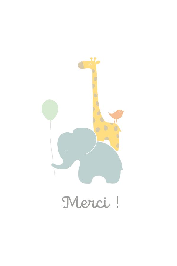 carte de remerciement safari