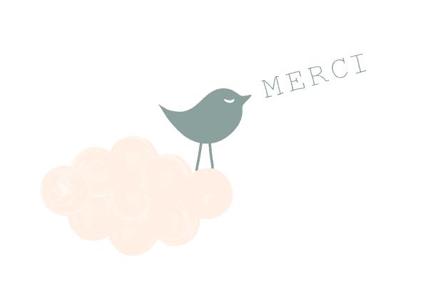 carte remerciement original, faire part naissance original oiseau, oiseau, naissance, poétique, fille, doux, tendance