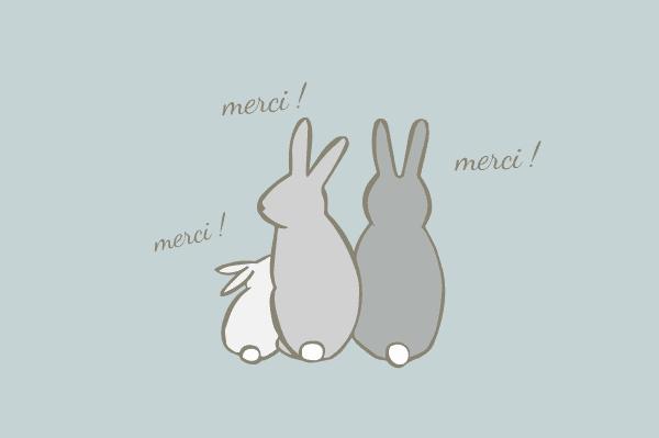 carte de remerciement lapin