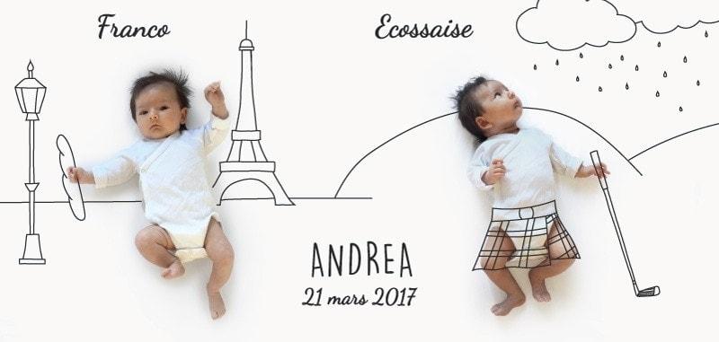 LE FAIRE-PART SUR MESURE D'ANDREA