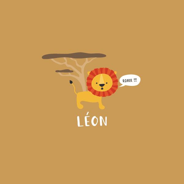 faire part naissance lion