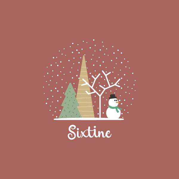 carte de naissance avec dessin de bonhomme de neige pour fille