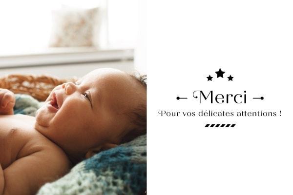 carte de remerciement naissance garçon