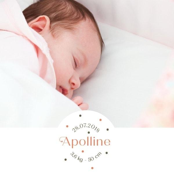 joli faire part de naissance photo pour fille