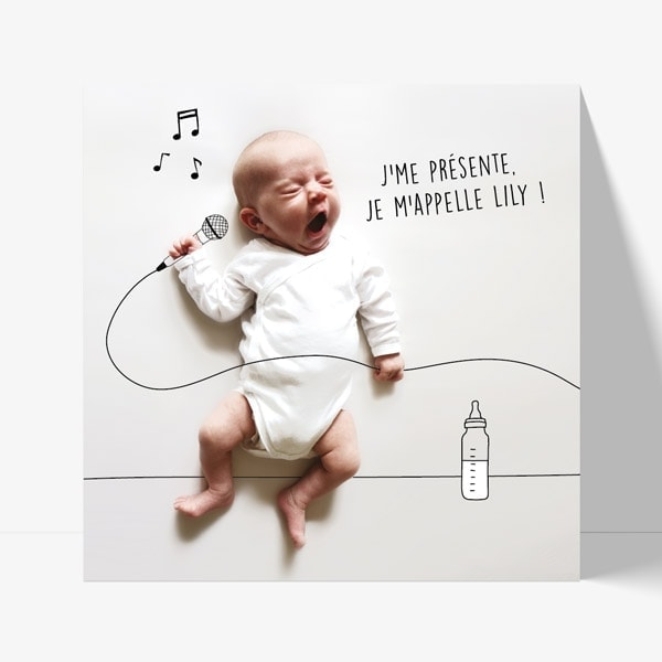 faire-part original pour un bébé chanteur