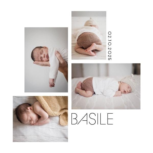 faire part photo pour bébé graphique et moderne