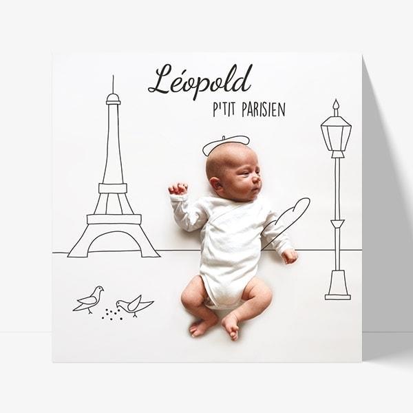 faire-part sur mesure pour bébé né à Paris
