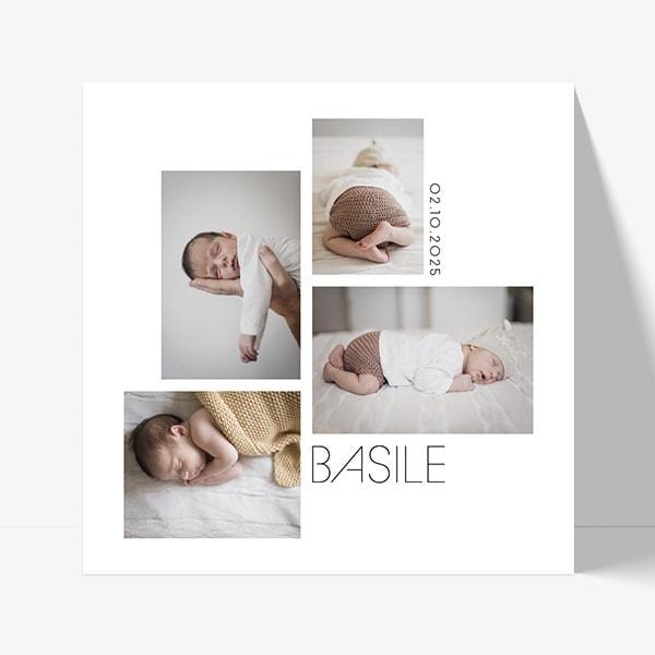 faire-part naissance photo pour fille ou garçon