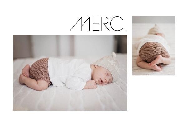 carte de remerciement naissance luxe avec photo