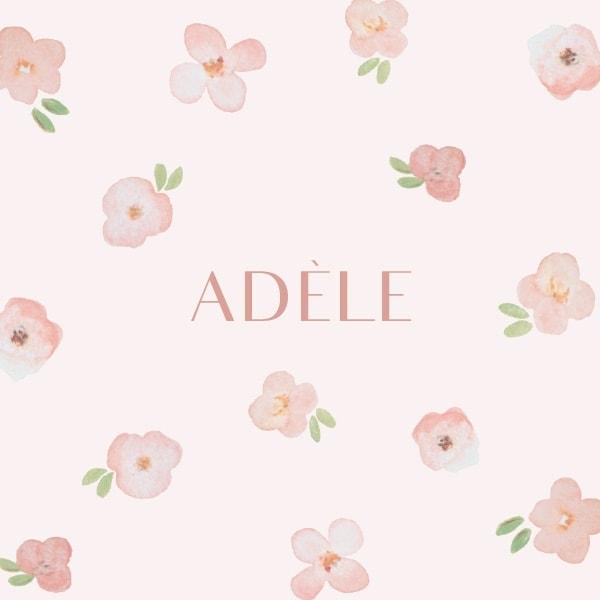 faire-part naissance fille avec fleurs de cerisier roses