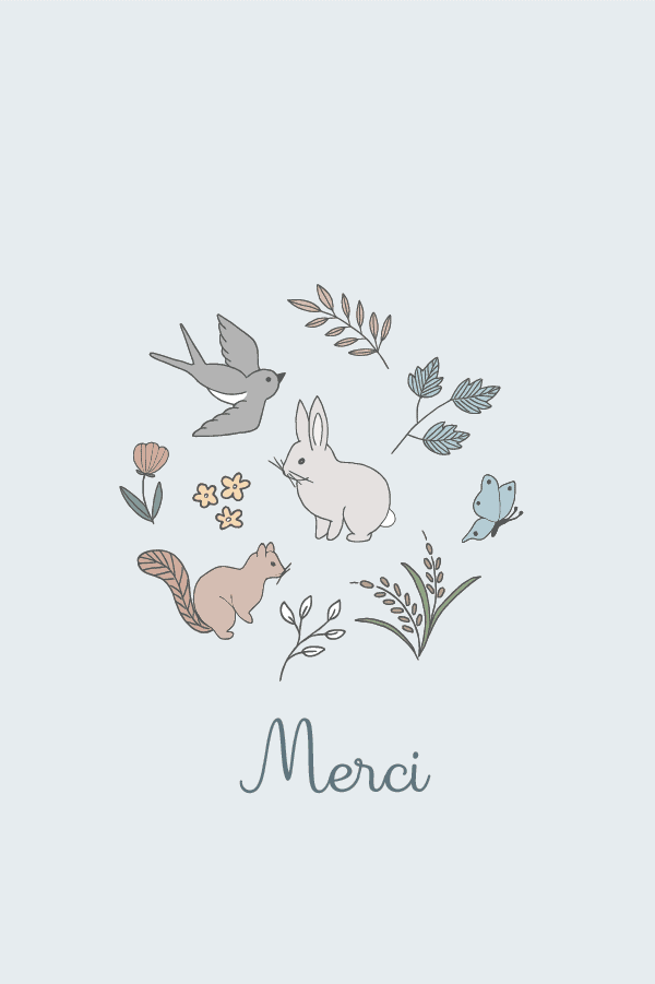 carte merci de printemps