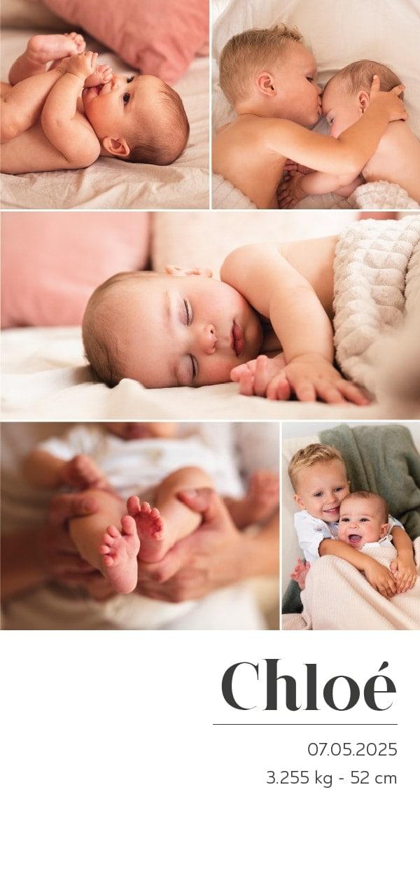 joli faire part de naissance original avec photo