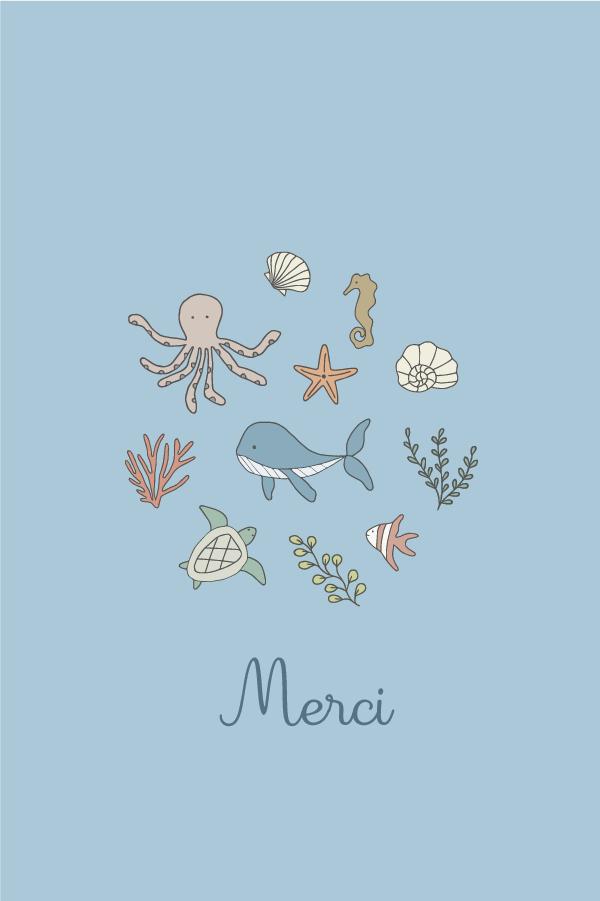 carte animaux de la mer