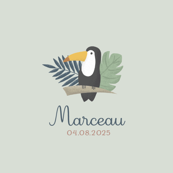 création design à personnaliser avec dessin oiseau