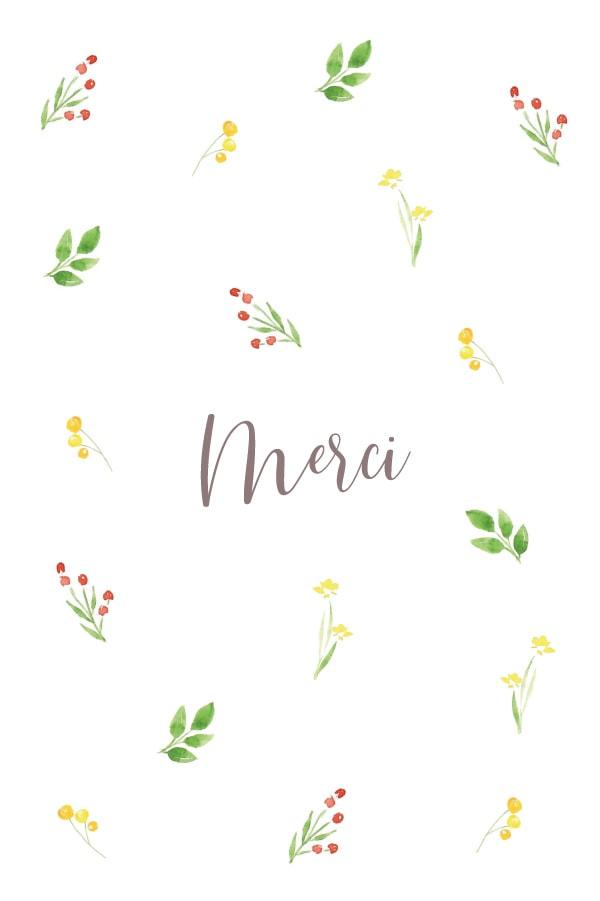carton de remerciement avec fleurs