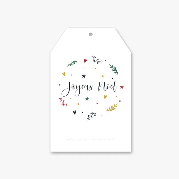 Décorer vos paquets cadeaux avec cette étiquette de fêtes