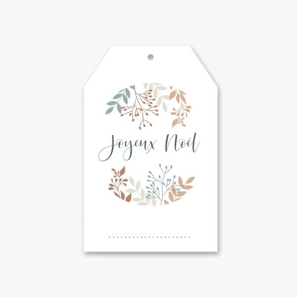 Petite étiquette pour décorer cadeaux de Noël