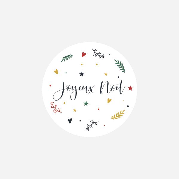 étiquette autocollante pour cadeau de Noël