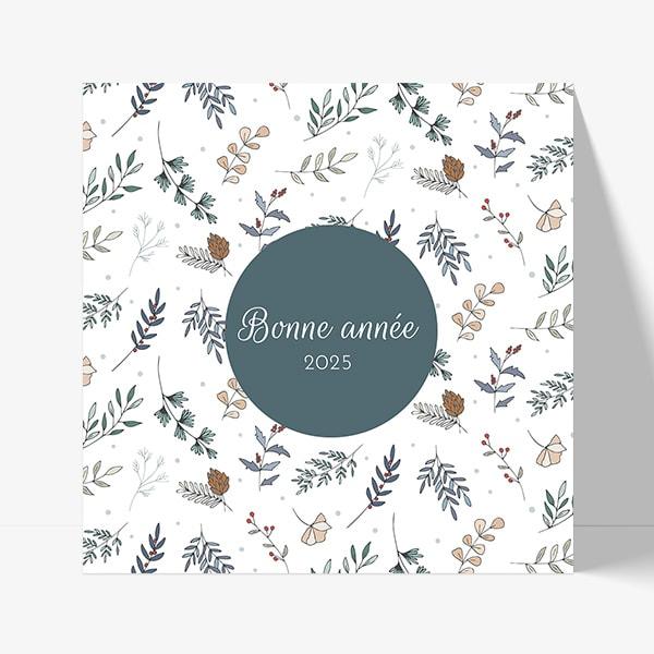 Fêter une bonne année avec une jolie carte