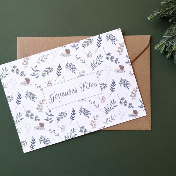 carte de voeux avec enveloppes