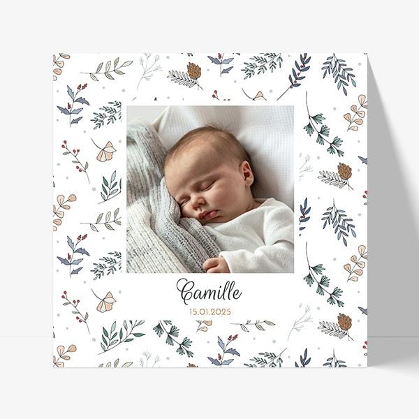 Annoncer à vos proches la naissance de votre bébé né pendant les fêtes