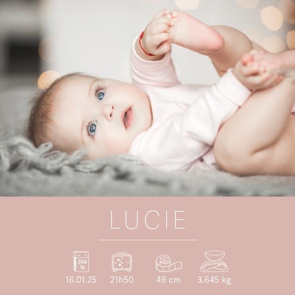 faire part naissance photo moderne à personnaliser