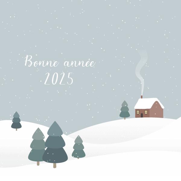 carte bonne année hiver
