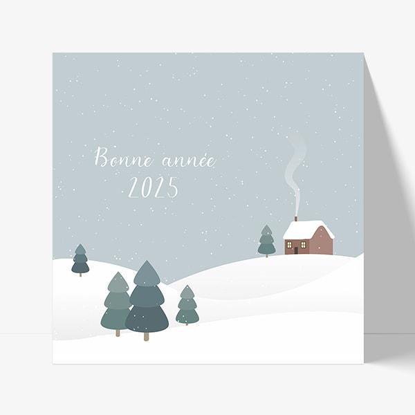 carte de voeux hiver et neige