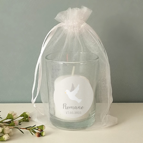 cadeau invité baptême colombe