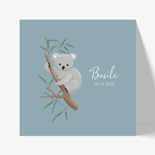 faire part de naissance garçon à imprimer koala